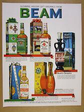 1962 Jim Beam green & white label Gift Boxes bottles illustration art vintage Ad