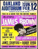 Music Poster Reprint  James Brown at Oakland Auditorium