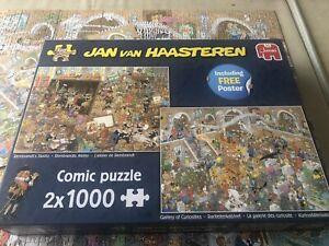Jigsaw 1000 Pieces X 2 Puzzles Jan Van Haasteren COMPLETE