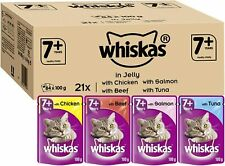 Whiskas 7+ Senior Wet Cat Food Pouches Chicken, Salmon, Beef and Tuna in Jelly