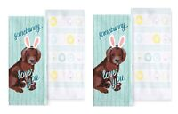 Celebrate Easter Together Kitchen Towels SOMEBUNNY LOVES YOU 4-Piece Set NEW