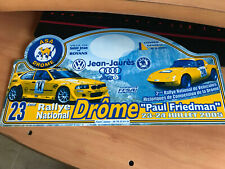 Placa Rally Rallye PVC Plastico Plaque Platte Decoracion Bmw m3 Friedman Paul