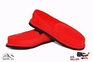Mens Red House Shoes Slippers Moccasin Slip-on Corduroy Comfort