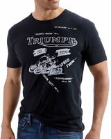 Lucky Brand Men's Jet Black Triumph All Over Short Sleeve Graphic Tee T-Shirt