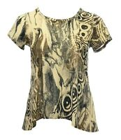 Womens New Animal Print Back Dipped Hem Tunic Top Plus Size 12 To 26 BNWT