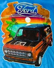 VTG '76  Ford Chopper Van 70s vanning E150 E250 Custom Econoline T-shirt iron-on
