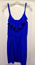 Amanda Uprichard Cobalt Blue Silk Sleeveless Dress Size Medium RNC0185