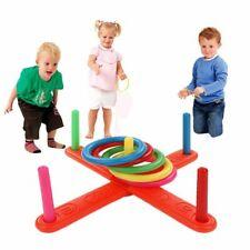 Toy Kids Hoop Ring Toss Plastic Quoits Garden Game Pool Toy Outdoor Fun Set