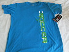 BRAND NEW Boys UNDER ARMOUR Blue/Green SOCCER YLG 14-16 FREE SHIP