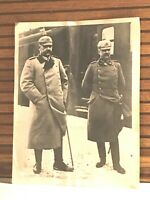 June 29,1934 Associated Press Photo German General Hindenberg & Erich Ludendorff
