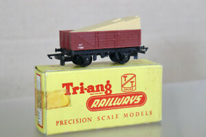 TRIANG T177 TT GAUGE BR OPEN TRUCK WAGON 17351 with TIMBER LOAD BOXED