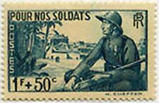 "FRANCE STAMP TIMBRE 452 "" SOLDATS , MARSOUIN ET VILLAGE AFRICAIN "" NEUF x TB"