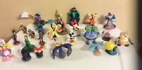 """Disney Lot Of 26 Figures / Cake Toppers Some Vintage 1""""-4"""""""