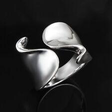 Men/Women Unisex Silver Plated Jewelry Adjustable Open Ring S Shape Design