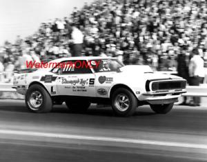 "Bill ""Grumpy"" Jenkins 1968 ""Grumpy's Toy"" Super Stocker Chevy Camaro PHOTO! #(6)"