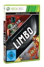 XBOX 360 LIVE ARCADE HITS Colección 3 JUEGOS Limbo Trials Hd & Splosion Man