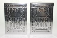 Bicycle Steam Punk Silver Playing Cards 2 Decks United States Playing Card Co.