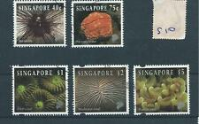 wbc. - SINGAPORE - S10 - five  values to $5  - used
