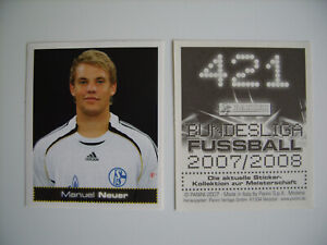 Panini Bundesliga Fussball 2007/2008: Manuel Neuer - Rookie, # 421, top !!!