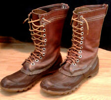 Converse Men's Boots Size 8 Brown Vintage Leather & Rubber Rain Hunting Outdoor