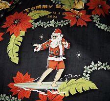 2002 Tommy Bahama SEDA Navidad Hawaiian Aloha Camisa Surf Santa Hula Niña S