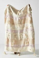 """Anthropologie All Roads Design Winter Sunset Lilac Throw Blanket 50"""" x 60"""""""