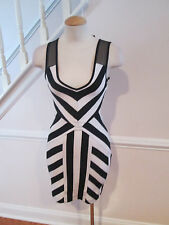 2b bebe black white dress with cut out on the sides xsmall new              #64