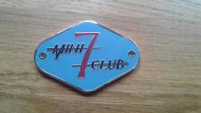 Mini Seven Se7en Racing Club Miglia Enamel Cooper S Badge Rare Race MED Works GT