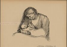 KÄTHE KOLLWITZ - MOTHER WITH CHILD - photo lithography
