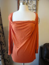 MICHAEL KORS Orange Soft Lightweight Blouse Top Size Large SHIPS FREE!!