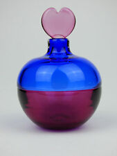Twists Glass Mike Hunter red & blue Incalmo perfume bottle signed Scotland scent