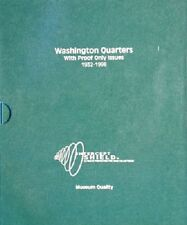 Washington Quarters Coin Album 1932-1998 Museum Quality + Proof Only Issues US