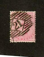 Great Britain stamp #26, used, wmk. 23, 4p rose, 1857, SCV $125