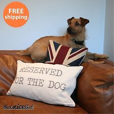 Reserved For The Dog Cushion Pet Pillow Animal Puppy Funny Gift Home Sofa Bed