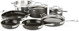 All-Clad Essentials Nonstick 12-Piece Cookware Set w/ Bonus 4qt Casserole + Lid