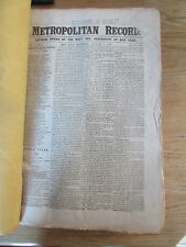 Civil War in Metropolitan Record New York 51 numbers Domestic & Europe news 1862
