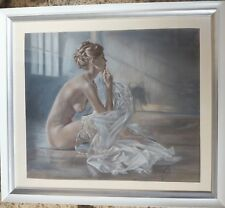 Pastel Nude Drawing Fine Art Painting Graphics
