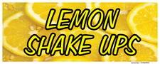 Lemon Shake Ups Banner Icy Cold Drinks Concession Stand Sign 36x96
