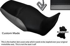 BLACK & GREY CUSTOM FITS HONDA XL 1000 V VARADERO 08-13 DUAL LEATHER SEAT COVER
