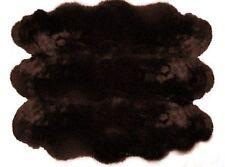 Genuine Real Australian Sheepskin Rug Six Pelts Brown Fur 6 x 5'6