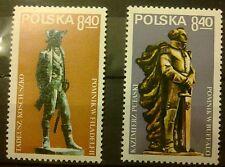 POLAND STAMPS MNH 1Fi2489,2501 Sc2345,2357 Mi2637,49 - Kosciuszko,Pulaski -1979