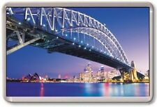 FRIDGE MAGNET - SYDNEY - Large Jumbo - Australia Harbour Bridge Blue
