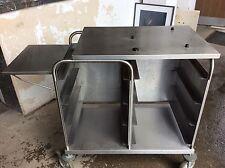 Arbeitstisch Transportwagen Ausschankwagen für Kaffee aus Edelstahl 92x55x99