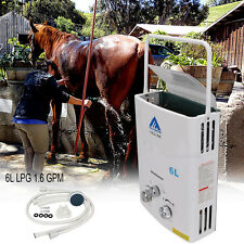 Portable 6L LPG 1.6 GPM Propane Gas Tankless Outdoor Instant Hot Water Heater CE