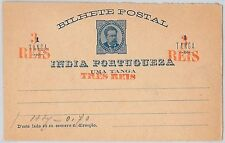 Portuguese India Postal Card, Stationery Stamps