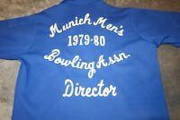 1979-1980 MUNICH MENS BOWLING ASSOCIATION SHIRT MEDIUM KING LOUIE SIZE MEDIUM