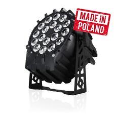 Flash PROFESSIONAL LED PAR 64 18x10W RGBW 4in1 Theater Scheinwerfer 3 Sektionen
