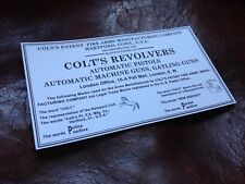 COLT'S REVOLVERS label sticker - Colt label 1911 inside pistol box