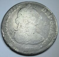 1788 Spanish Silver 4 Reales Piece of 8 Real Colonial Era Pirate Treasure Coin