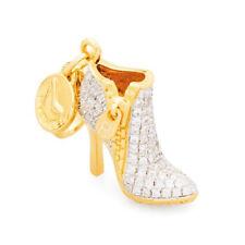 Ciondolo ROSATO charm argento stivaletto scarpa con tacco MY SHOES SH031
